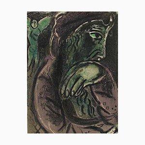 Lithographie Originale de Job in Disperation par Marc Chagall - 1960s 1960s