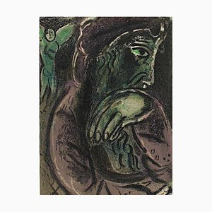 Litografía Job of Disperation - Original de Marc Chagall, años 60