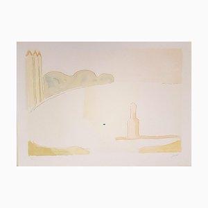 Scicli - Original Lithograph by Virgilio Guidi - 1970s 1970s
