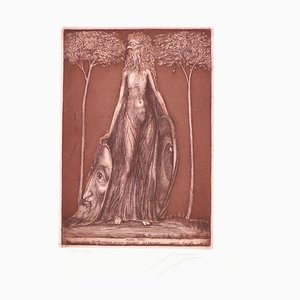 Flora Okuli - Original Etching by Ernst Fuchs - Late 20th Century Late 20th Century