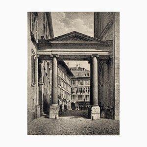 Geneva, Port de la Treille - Lithograph by A. Fontanesi - 1854 1854