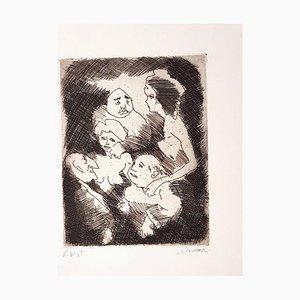 Untitled - Original Etching and Aquatint by Mino Maccari - 1960s 1960