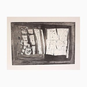 Abstract Composition - Original Radierung von Antonio Corpora - 1969 1969