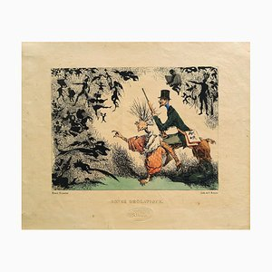 Songe Drolatique - Original Lithograph by Henri Monnier - 1830 1830