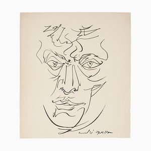 Portrait - Original Lithograph by André Masson - Late 20th Century Late 20th Century