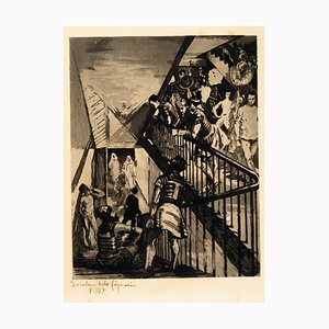 Escalier de la Fiuration - Etching and Aquatint by Charles Pierre Renouard 1881