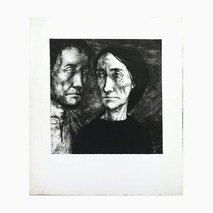 Figures in the Dark - Original Etching by Michel Ciry - Mid 20th Century 1950s