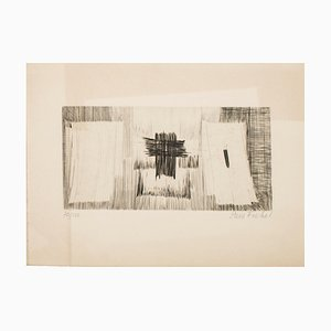 Composition - Original Etching by Pierre Fichet - 1958 1958