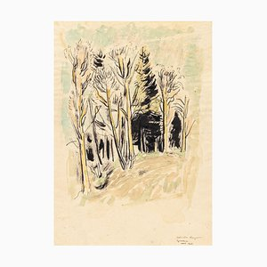 Into the Woods - China Ink and Watercolor by G. Kayser - 1948 1948