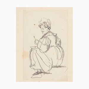 Figure - Original Pencil Drawing - Late 19th Century Late 9th Century