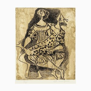 Two Figures - Original Etching by Luciano Minguzzi - Late 20th Century Late 20th Century