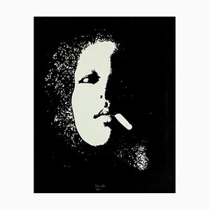 Portray in Black - Original Radierung von Giacomo Porzano - 1972 1972