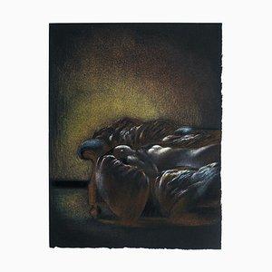 Femme Nue Allongée sur Canapé - Original Lithografie von B. Kelly - 1980er 1980er