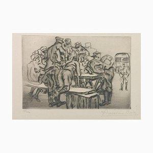 La Paye - Original Etching by Anselmo Bucci - 1917 1917