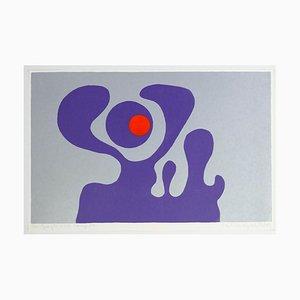Violet Fantasy - Original Screen Print by A. Knipschild - 1969 1969