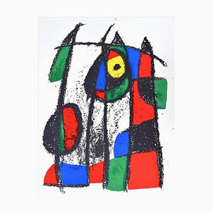 Composition VII - Original Lithograph by Joan Mirò - 1974 1974