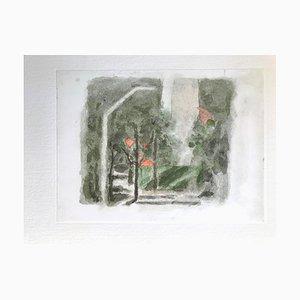 Landscape with a Red Spot - Vintage Offset Druck nach Giorgio Morandi - 1973 1973