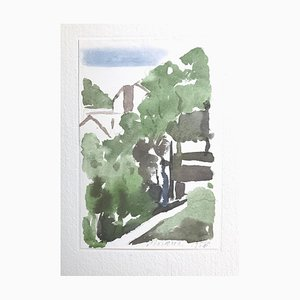 Landscape - Vintage Offset Druck nach Giorgio Morandi - 1973 1973