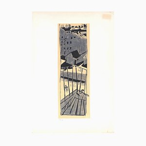 Cityscape - Original Lithograph by Jean Pougny - Mid 20th Century Mid 20th Century