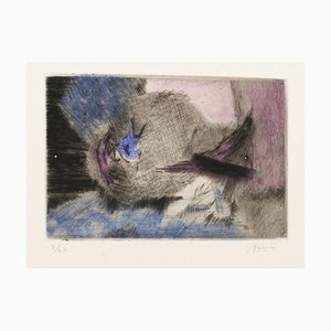Abstract Composition - Original Etching and Aquatint - 1960s 1960s