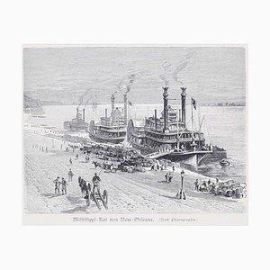 Mississippi - Original Holzschnitt - 1890 1890