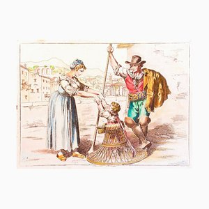 Roman Costumes - Radierung von Bartolomeo Pinelli - 1819 1819