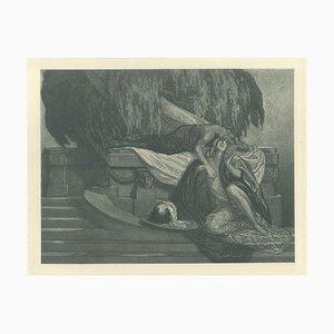 Die Zisterne - Vintage Héliogravüre von Franz von Bayros - ca. 1921 Ca. 1921