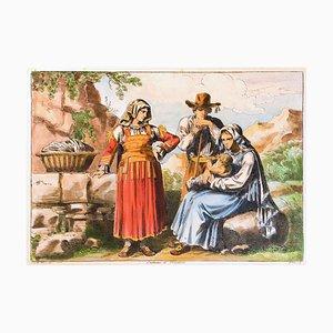 Felettino Kostüm - Original Radierung von Bartolomeo Pinelli - 1819 1819