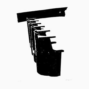 Benches - Original Lithograph by Pino Reggiani - 1970 ca. 1970