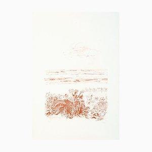 Sea Scape - Original Lithographie von Sandro Sanna - 1969 1969