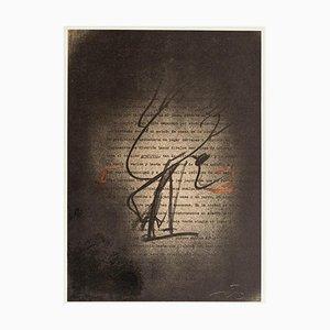 Graffiti - Vintage Offset Print After Antoni Tàpies - 1982 1982