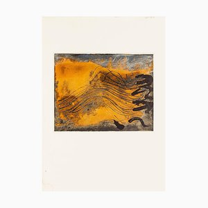 Undulations - Vintage Offset Print After Antoni Tàpies - 1982 1982
