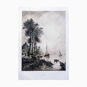 La Meuse - Original Etching by R.P. Grouillet - 1911 1911
