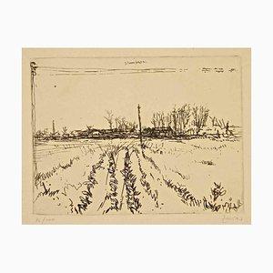 Landscape - Original Radierung von G. Zancan - 1960 ca. 1960er Jahre