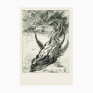 Sea Dragon - Original Etching by M. Chirnoaga - Late 20th Century Late 20th Century