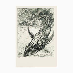 Sea Dragon - Original Radierung von M. Chirnoaga - spätes 20. Jahrhundert spätes 20. Jahrhundert