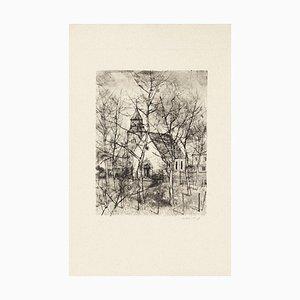 The Church - Original Etching by Michel Ciry - 1964 1964