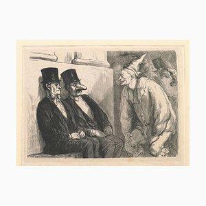 Bal de l'Opera: Tu t'amuses trop! Woodcut Print by Etienne After Daumier - 1868 1868