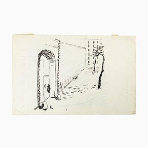 Je suis une détenue - Kap. I - China Tuschezeichnung von T. van Elsen - 1950er 1950er