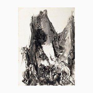 Paisaje surrealista - Dibujo de tinta y chacografía sobre papel - 1981 1981