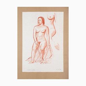 Nude - Original Pastel drawing by Emile Deschler - 1986 1986