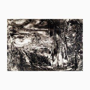 Landschaft - Tuschezeichnung und Chacografie auf Papier - 1980 1980