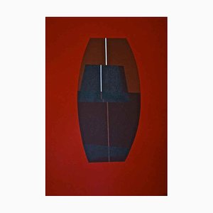 Red Six III - Original Lithograph by Lorenzo Indrimi - 1970 ca. 1970