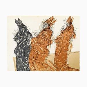 Three Bishops - Original Lithograph - 1970s 1970s