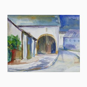 Arc and Houses - Original Watercolor by Armin Guther - 1993 1993
