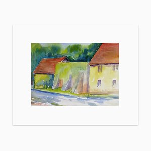 Countryside - Original Watercolor by Armin Guther - 1993 1993