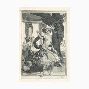 The Belly Dancer - Héliogravure by Franz von Bayros - 1920s 1920s