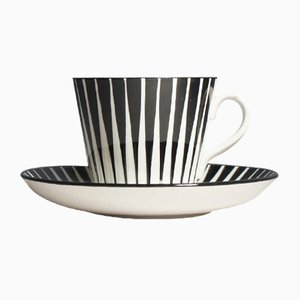 Mid-Century Zebra Tableware Set by Eugen Trost for Gefle, Set of 2