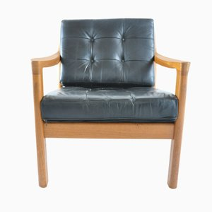 Vintage Teak and Leather Lounge Chair from Silkeborg