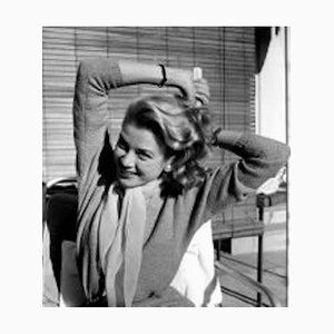 Grace Kelly Grooming Her Hair Archival Pigment Print Framed in White by Everett Collection